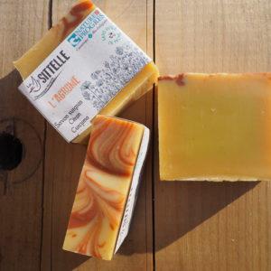 saponification à froid, savon agrume au citron, la sittelle, gard, cévennes, bio, naturel, savon