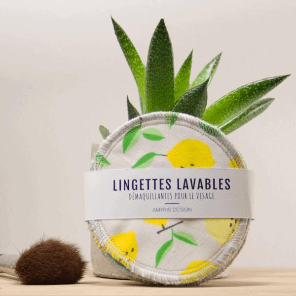 Lingette lavable, écologique,